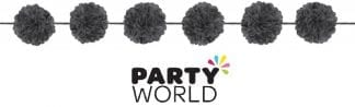 Black Fluffy Garlands 3.65m (2)