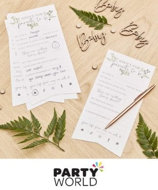 Botanical Hey Baby Shower Party Advice Cards (10)