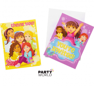 DOra & friends invites & thank you cards