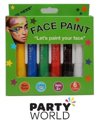 Face Paint Assorted Colour Pack (6 Sticks)