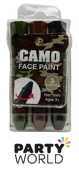 Face Paint Camo Colour Pack (3 Sticks)