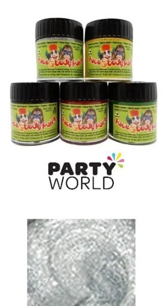 Face Paint - Silver Glitter Makeup 30ml