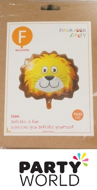 Lion Face Shaped Foil Balloon