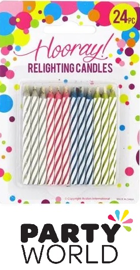 Magic Relighting Assorted Colour Candles (24)