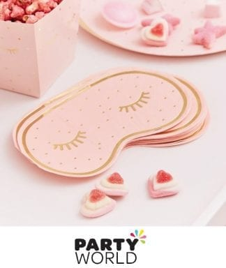 Pamper Party Gold Foiled Eye Mask Shaped Napkins (16)