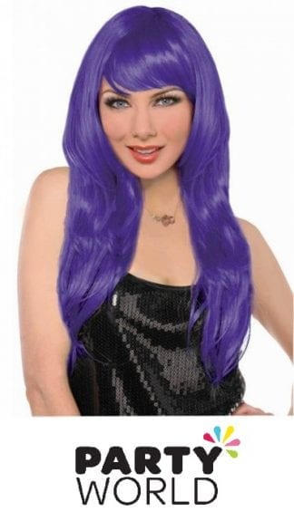 Purple Long Wig - Fits Adults And Kids!