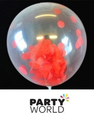 Red Confetti Latex Balloons 30cm (6pk)