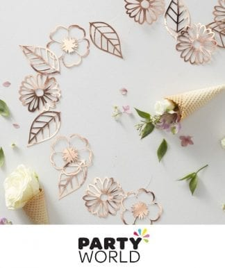 Rose Gold Ditsy Floral Party Garland