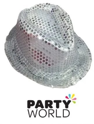 Shining Silver Sequins Hat