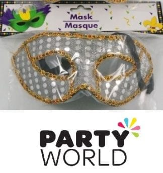 Silver and Gold Masquerade Mask