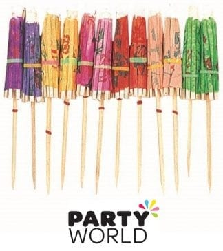 Umbrella Pick Parasols - Assorted (12pk)