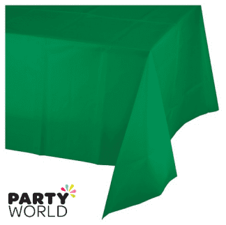 dark green plastic tablecover
