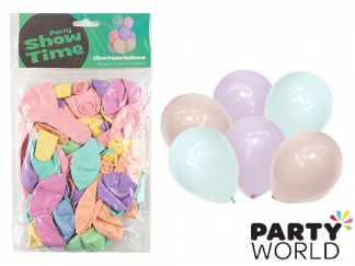 pastel assorted balloons
