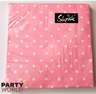 pink dotty napkins