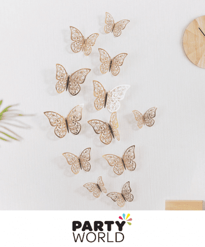 rose gold butterfly decorations