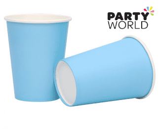 sky bsky blue paper cupslue paper cups