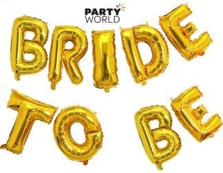 Bride To Be Gold Foil Balloon Banner