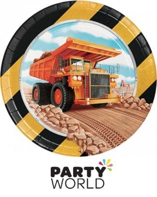 Construction Party 7 inch Paper Plates (8)
