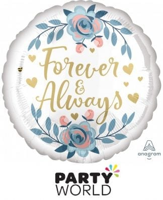 Forever And Always Gold Floral Foil Balloon