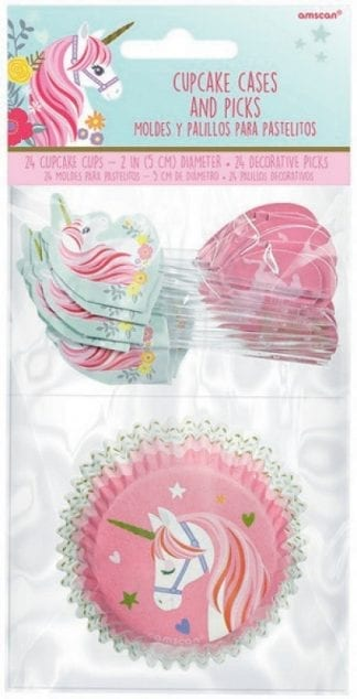 Magical Unicorn Cupcake Cases And Picks (24)