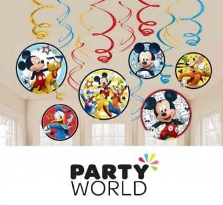 Mickey Mouse On The Go Foil Swirl Decorations