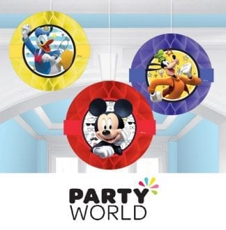 Mickey Mouse On The Go Honeycomb Hanging Decorations (3)