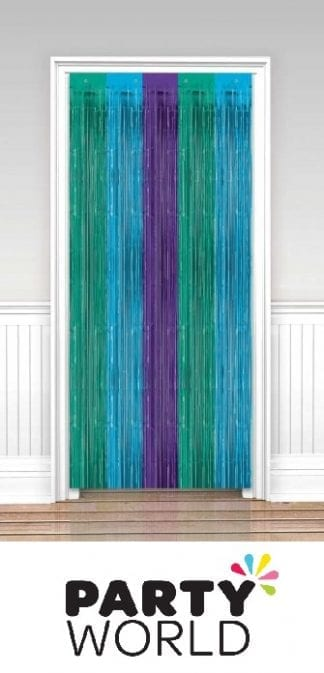 Tinsel Curtain - Sparkling Sapphire 3ft x 8ft