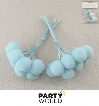 blue pom pom picks