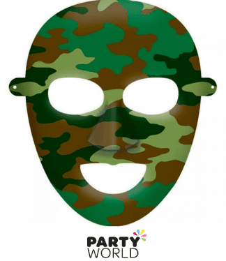 camouflage paper mask