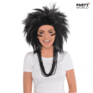 crazy black hair wig