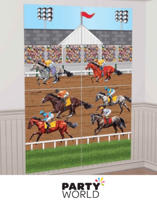 horse racing wall decorating kit