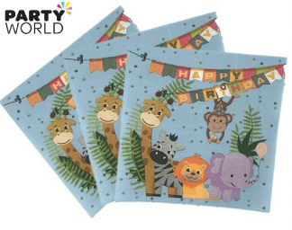 jungle animals napkins