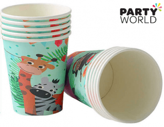 jungle animals paper cups
