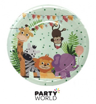 jungle party paper plates
