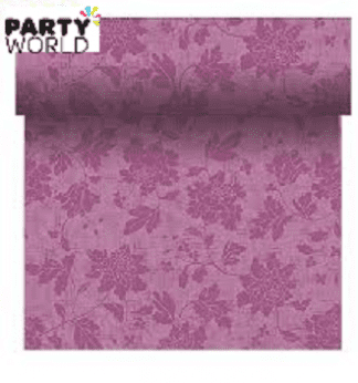 lilac table runner