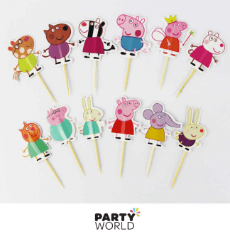 peppa pig cupcake picks