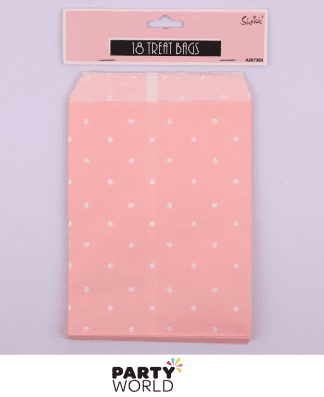 pink dot treat bags