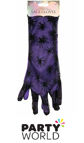 purple spider gloves