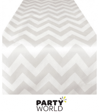 silver chevron runner