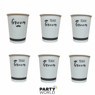 team groom paper cups