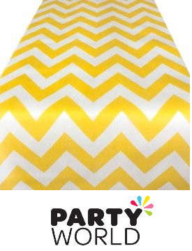 yellow chevron tablerunner