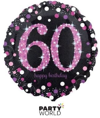 60th foil balloon