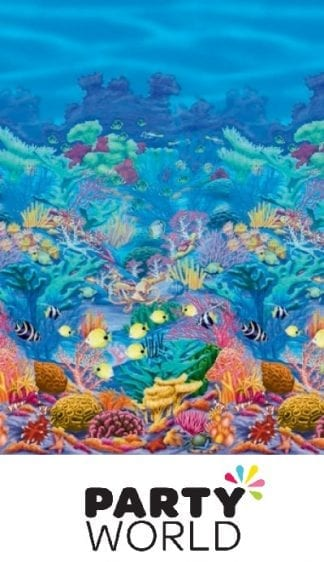 Coral Reef Party Scene Setters Large Room Roll