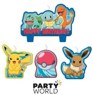 Pokemon Classic Party Birthday Candle Set