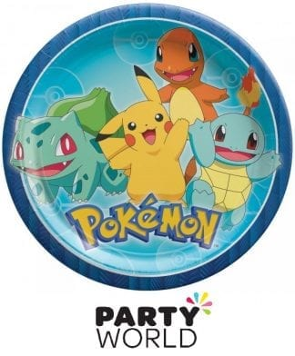 Pokemon Classic Party Round 9in Plates (8)
