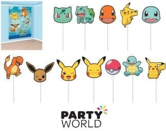 Pokemon Classic Party Scene Setter With Photo Props