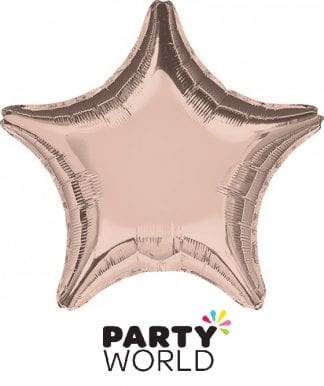 Rose Gold Star Shape Foil Balloon