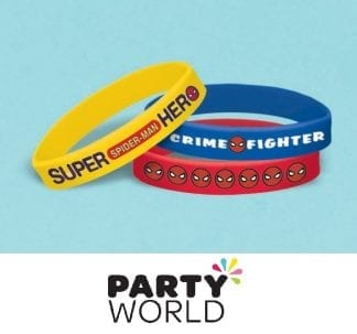 Spiderman Webbed Wonder Rubber Bracelets (6)