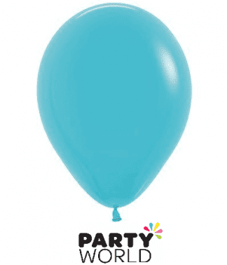 caribbean blue mini latex balloons