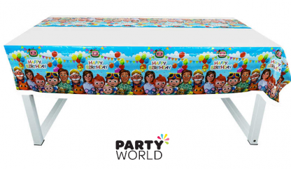 cocomelon party tablecover